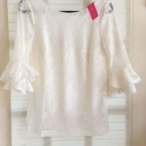 Lilly Pulitzer lace blouse